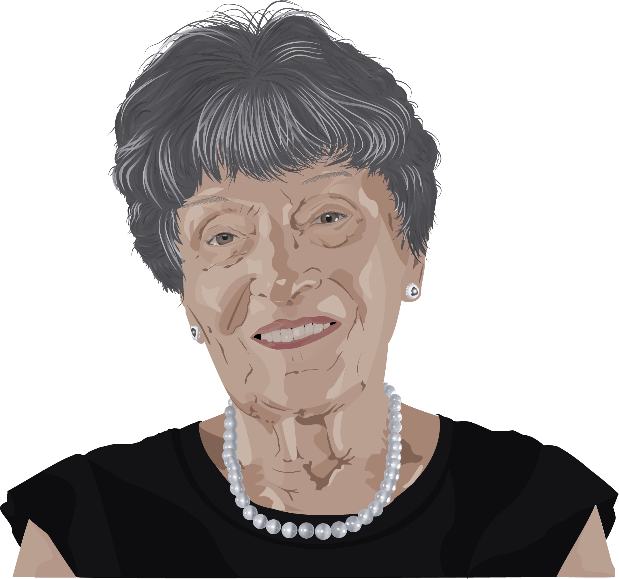 vectorization of an older woman