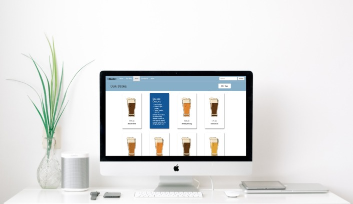 Desktop Layout of beer site